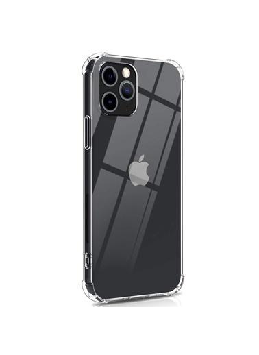 Microsonic Apple iPhone 12 Pro Kılıf Shock Absorbing Şeffaf Renksiz